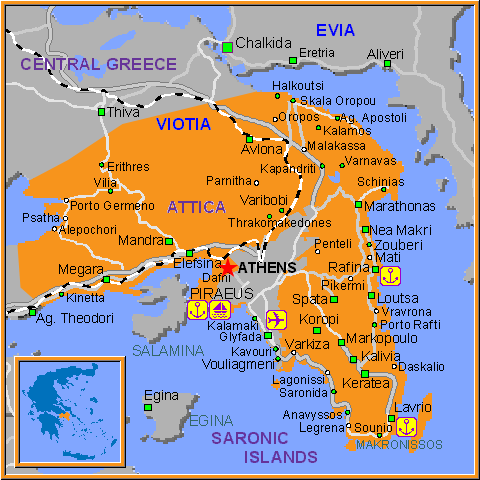 Travel Greece Map of Dafni