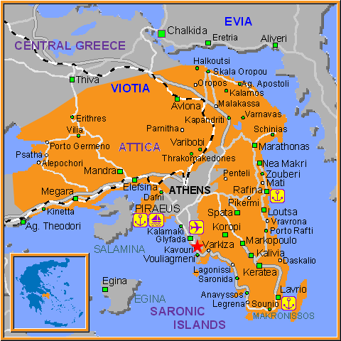 Travel Greece Map of Kavouri