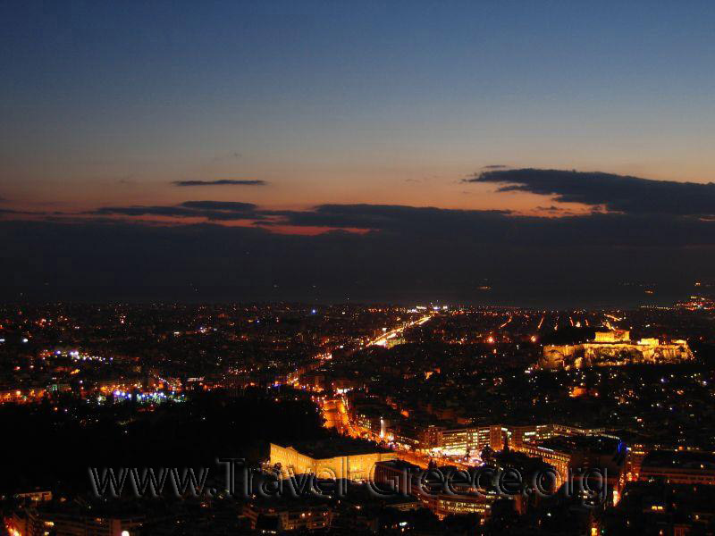 Night from Lycavittos Hill - Athens-Attica - Greece
