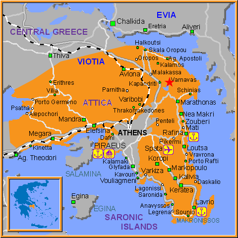 Travel Greece Map of Varnavas