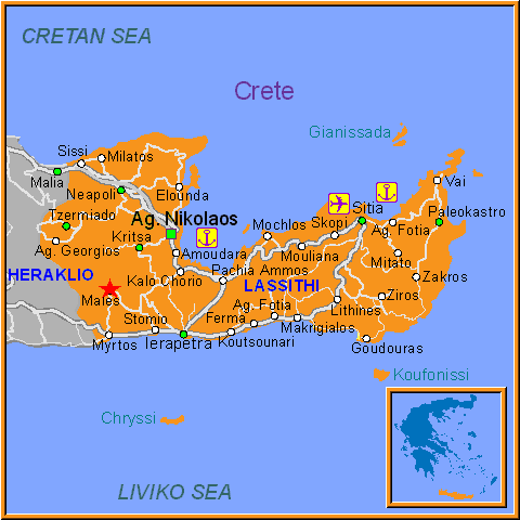 Males - Lassithi - Crete - Greece - Travel guide to Males - Males map