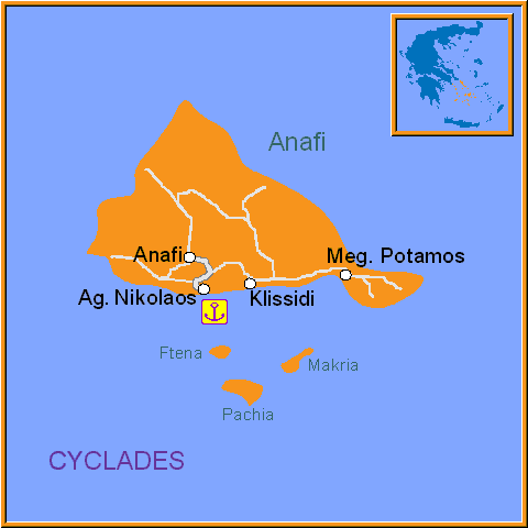 Travel Greece Map of Anafi
