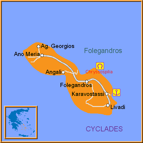 Travel Greece Map of Folegandros