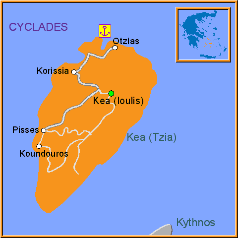 Travel Greece Map of Kea