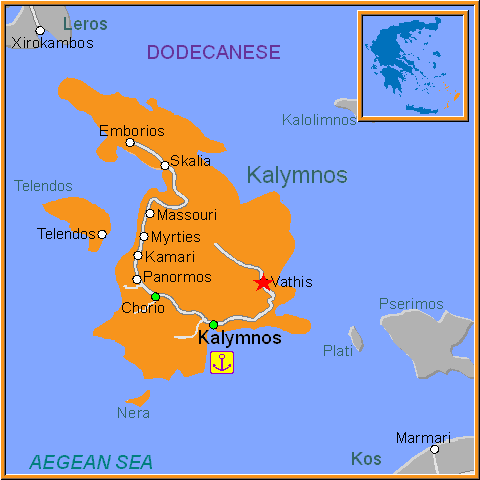 Travel Greece Map of Vathis