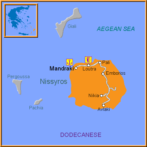 Travel Greece Map of Nissyros