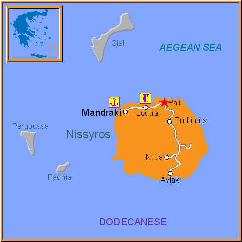 Travel Greece Map of Pali