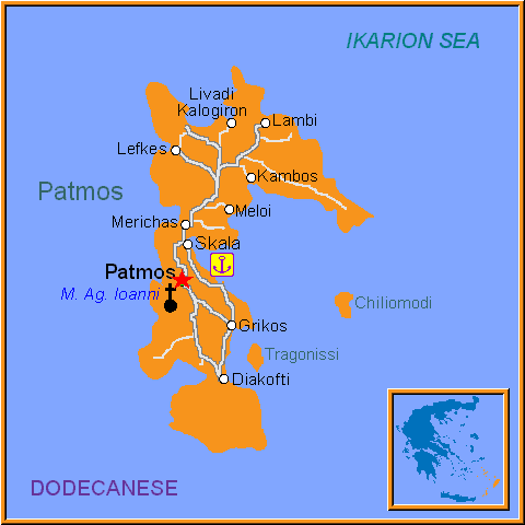 Map Of Patmos