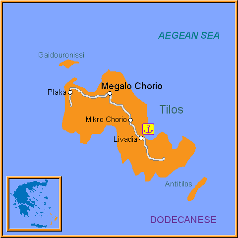Travel Greece Map of Tilos