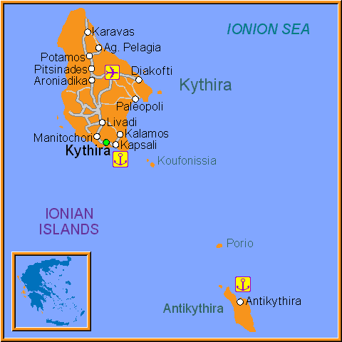 Map of Kythira