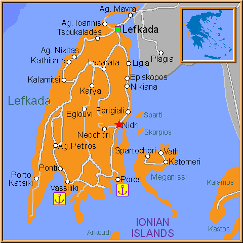 Travel Greece Map of Nikiana