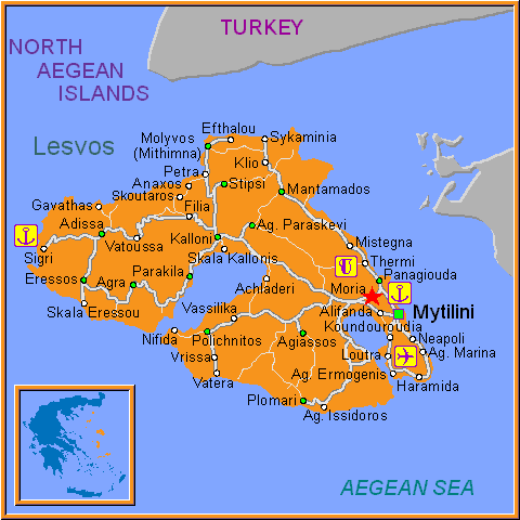 Travel Greece Map of Moria