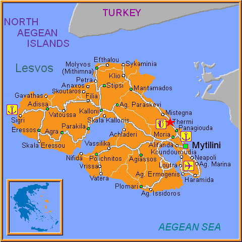 Travel Greece Map of Thermi