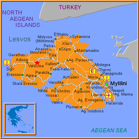 Travel Greece Map of Vatoussa