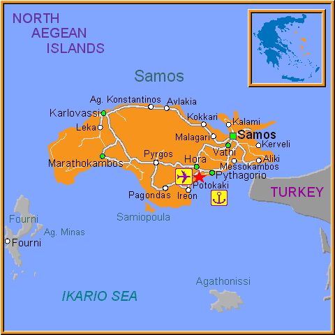 Travel Greece Map of Potokaki