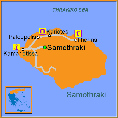 Travel Greece Map of Samothraki