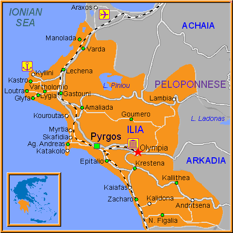 Map Of Olympia