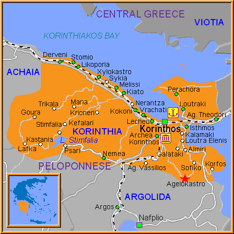 Travel Greece Map of Agelokastro