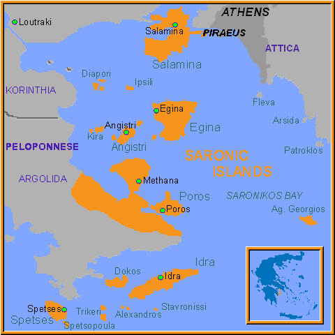 Map Of Island Of Spetses