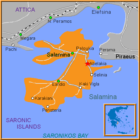 Travel Greece Map of Abelakia