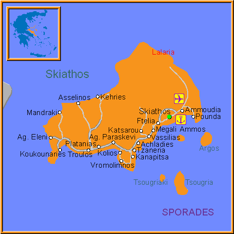 Travel Greece Map of Skiathos