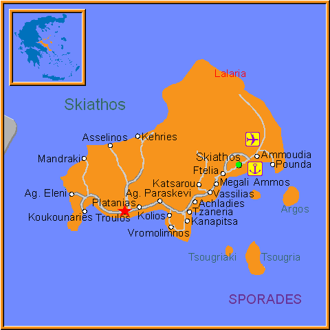 Travel Greece Map of Troulos
